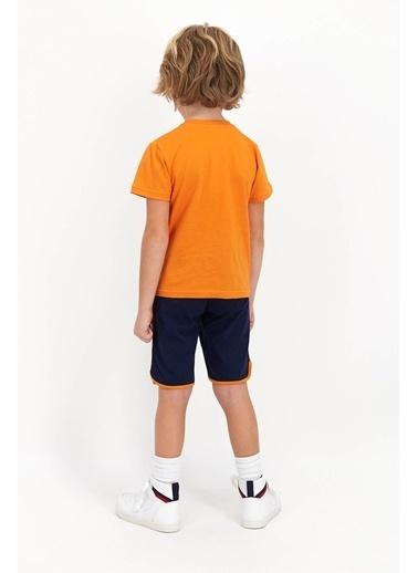 U.S. Polo Assn. Sandiago  Turuncu Genç Erkek Bermuda Takım Oranj